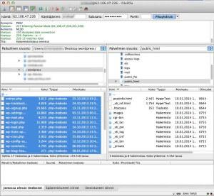Siirrä WordPressin tiedostot public_html hakemistoon palvelimella
