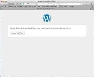 """Klikkaa """"Asenna WordPress"""" jatkaaksesi."""