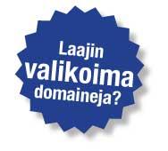 Laaja domain valikoima