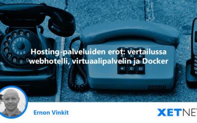 Hosting-palveluiden erot: webhotelli, virtuaalipalvelin ja Docker