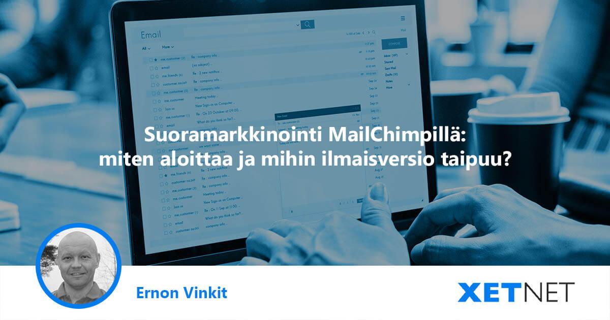 Sähköpostimarkkinoinnin työkalu: ilmainen MailChimp esittelyssä