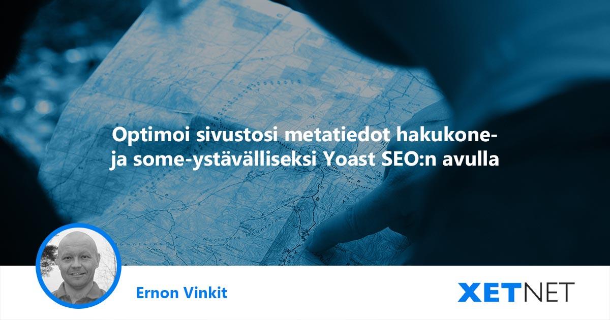 Yoast SEO: optimoi sivustosi metatiedot hakukone- ja some-ystävälliseksi