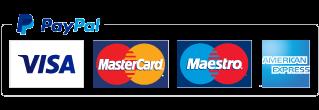 Luotettavat ja nopeat maksutavat: Paypal, Visa, MasterCard, Maestro ja American Express