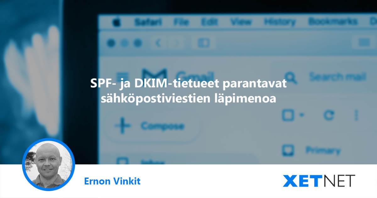 SPF ja DKIM-tietueet: paranna sähköpostiviestien läpimenoa MailChimp-sähköpostipalvelussa