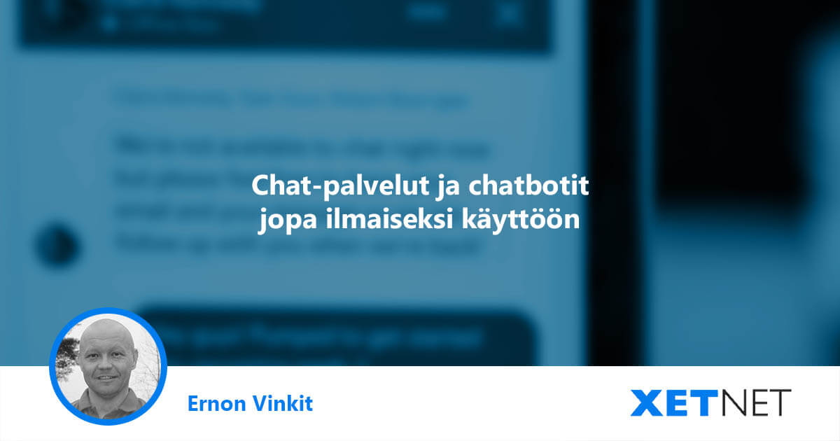 Chat-palvelut ja chatbotit verkkosivuille jopa ilmaiseksi