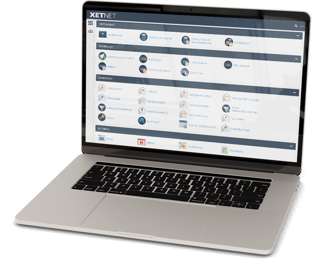 cPanel helpottaa palvelunhallintaa. XetNET on virallinen cPanel kumppani.