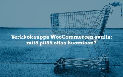 Verkkokauppa WooCommercen avulla – mitä pitää tietää?